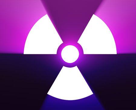 Illustration of radiation hazard warning alert symbol Stock Illustration - 6705957