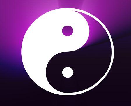 representation: Yin yang symbol oriental representation of duality Stock Photo