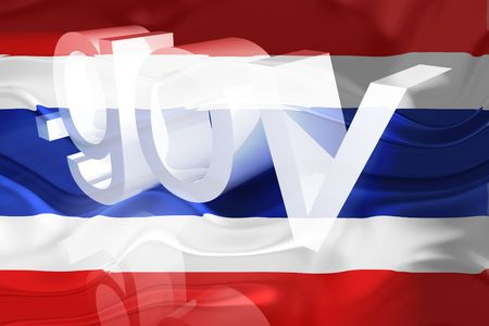 Flag of Thailand, national country symbol illustration wavy gov government website illustration
