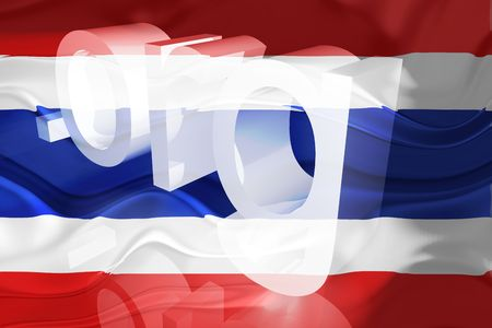 Flag of Thailand, national country symbol illustration wavy org organization website illustration