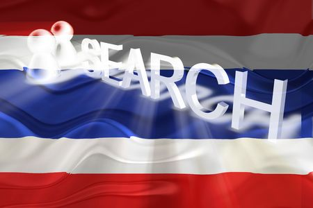 Flag of Thailand, national country symbol illustration wavy internet search technology illustration