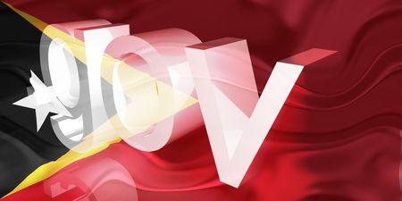 gov: Flag of Timor-Leste, national country symbol illustration wavy gov government website