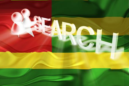 Flag of Togo, national country symbol illustration wavy internet search technology illustration