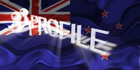 tokelau: Flag of Tokelau, national country symbol illustration wavy internet information profile