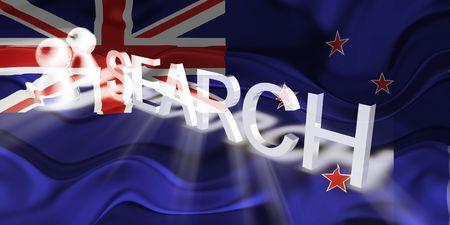 tokelau: Flag of Tokelau, national country symbol illustration wavy internet search technology Stock Photo