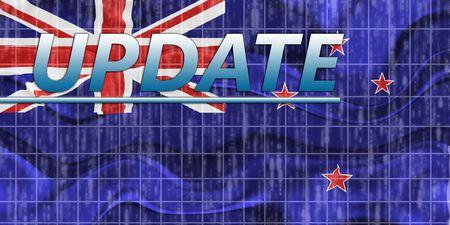 tokelau: News information splash Flag of Tokelau, national country symbol illustration wavy