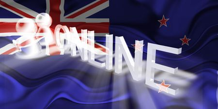 tokelau: Flag of Tokelau, national country symbol illustration wavy internet online website