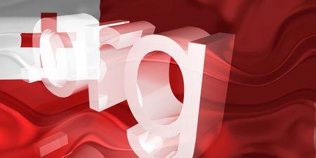 Flag of Tonga, national country symbol illustration wavy org organization website illustration