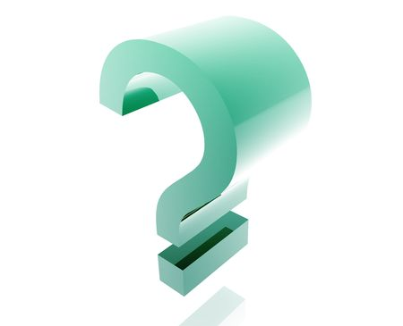 punctuate: Question mark illustration glossy metal style isolated