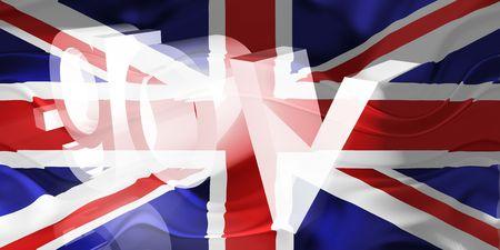 gov: Flag of United Kingdom, national country symbol illustration wavy gov government website Stock Photo