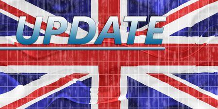 News information splash Flag of United Kingdom, national country symbol illustration wavy Stock Illustration - 6712369