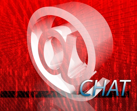 Internet communication illustration for blogs chat newsgroup forums bulletin boards Stock Photo