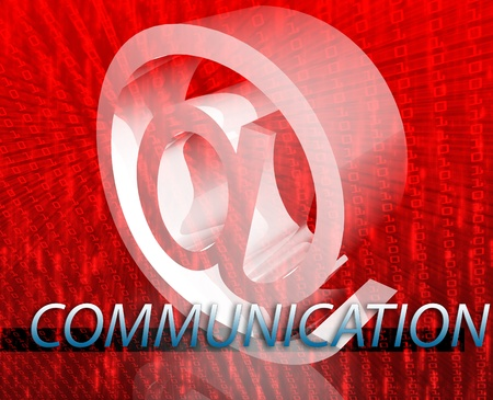 newsgroup: Internet communication illustration for blogs chat newsgroup forums bulletin boards Stock Photo