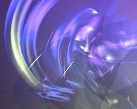 Abstract smooth glowing translucent flowing pattern wallpaper illustration Stock Illustration - 8634993