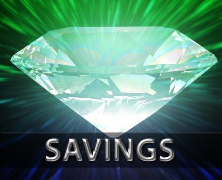 Luxury retirement wealth savings investment concept background diamond illustration illustration