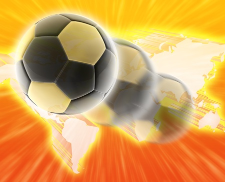 wordwide: Worldwide international world cup football soccer concept abstract