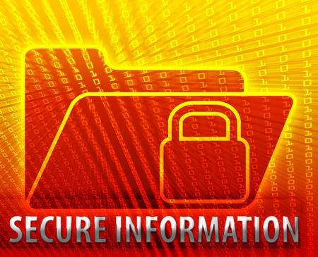 Secure date encryption locked information folder concept illustration illustration