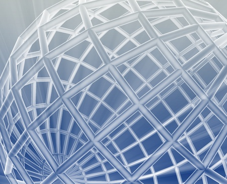 Abstract globe grid wireframe sphere illustration background illustration