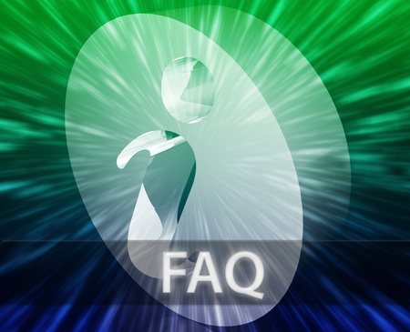 technlogy: FAQ Information frequently asked questions help support illustration