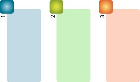 Blank generic management business strategy concept diagram illustration illustration