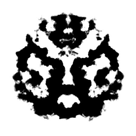 ink blots: Rorschach inkblot test illustration, random abstract design