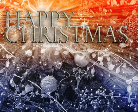 Merry christmas seasons greetings happy new year concept background illustration illustration