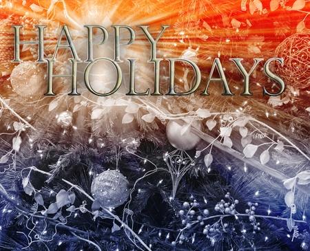 festive occasions: Ilustraci�n de fondo de feliz Navidad temporadas saludos feliz a�o nuevo concepto