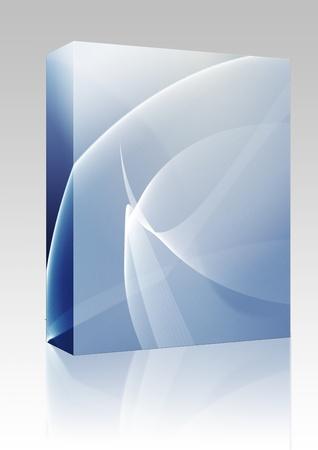 Software de paquete cuadro abstracto wallpaper ilustración de energía que fluye ondulado y colores