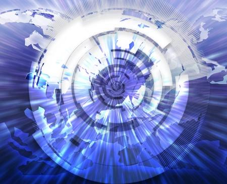 Global internet broadband data information communications technology concept illustration Stock Illustration - 8635613