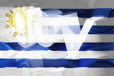 gov: Flag of Uruguay, national country symbol illustration wavy gov government website