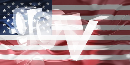 gov: Flag of United States of America, national country symbol illustration wavy gov government website