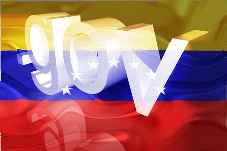gov: Flag of Venezuela, national country symbol illustration wavy gov government website