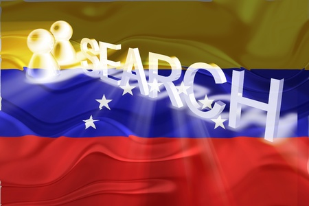 Flag of Venezuela, national country symbol illustration wavy internet search technology illustration