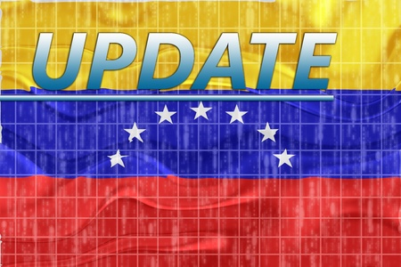 News information splash Flag of Venezuela, national country symbol illustration wavy illustration