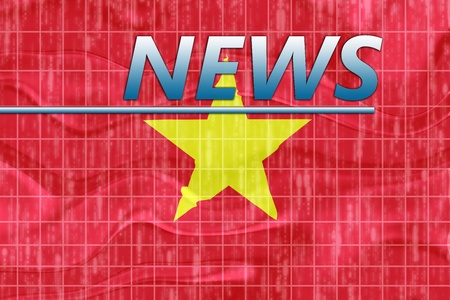 newsflash: News information splash Flag of Vietnam, national country symbol illustration wavy