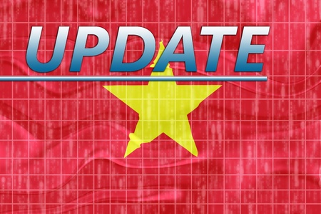 News information splash Flag of Vietnam, national country symbol illustration wavy Stock Illustration - 8635396