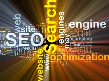 search result: Software package box Word cloud concept illustration of SEO Search Engine Optimization Stock Photo