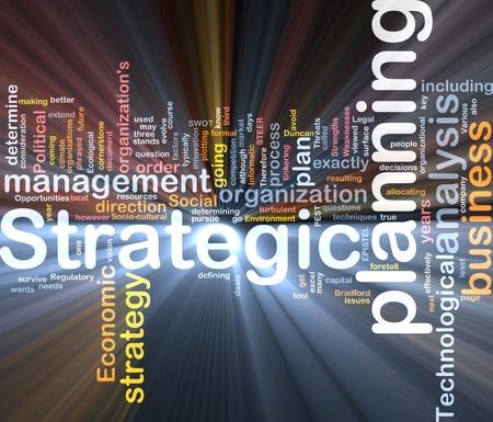 planeaci�n estrategica: Cuadro de paquete de software de ilustraci�n de concepto de nube de palabra de la planificaci�n estrat�gica