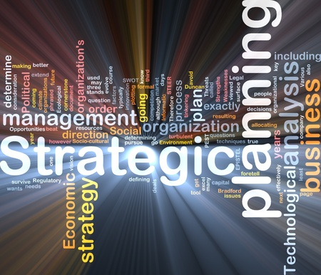 Software package box Word cloud concept illustration of strategic planning illustration