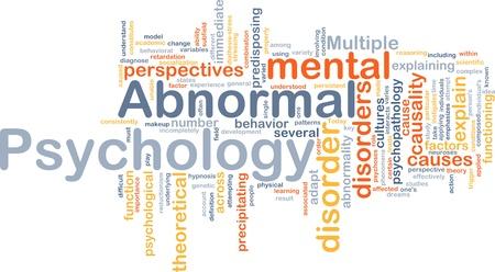 behavioral: Abnormal psychology background concept Stock Photo