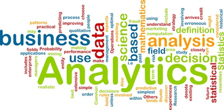 optimal: Background concept illustration of analytics business analysis