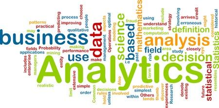 predictive: Sfondo concetto illustrazione di analisi di business analytics