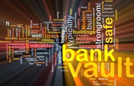 Software package box Word cloud concept illustration of bank vault illustration