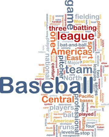 Background concept illustration of business baseball sports illustration