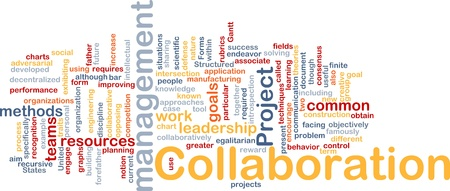 Background concept wordcloud illustration of Collaboration management cooperation illustration
