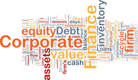 retained: Ilustraci�n del concepto de fondo de las finanzas corporativas de negocio