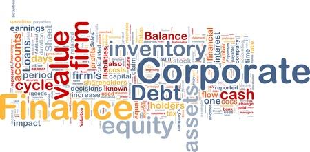 �quit�: Illustration concept de fond de la finance d'entreprise Banque d'images