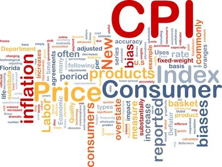 substitute: Background concept illustration Consumer Price Index