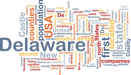 Background concept wordcloud illustration of Delaware American state