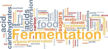 levadura: Ilustraci�n de wordcloud de concepto de fondo de fermentaci�n de alimentos